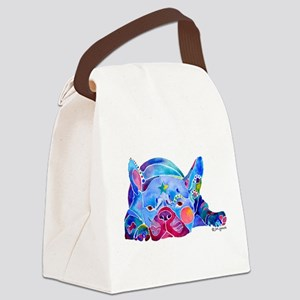 FrenchBulldogWhimZaz Canvas Lunch Bag