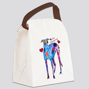 Love a Greyhound Canvas Lunch Bag