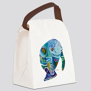Manatees Endangered Species Canvas Lunch Bag