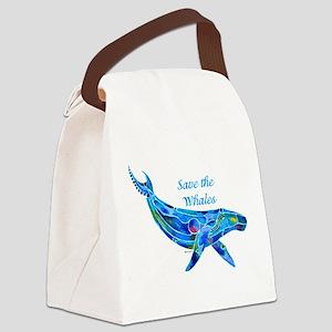 SaveWhaleHumpback Canvas Lunch Bag