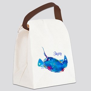 StingRaywTxt Canvas Lunch Bag