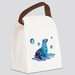 SaltySeal4Cafe Canvas Lunch Bag