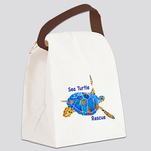 Turtle RescueB Canvas Lunch Bag