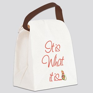 ItisWhatitisPeach Canvas Lunch Bag
