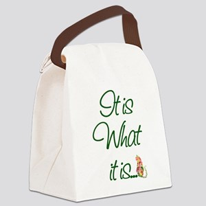 ItisWhatitisGreen Canvas Lunch Bag