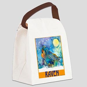 Lunar Raven 2 Canvas Lunch Bag