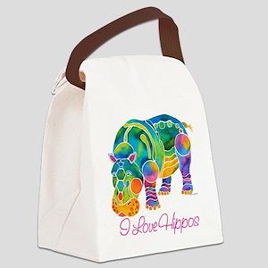 ILOVEHippos-11 Canvas Lunch Bag