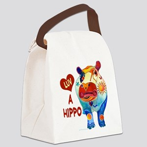 HippoLuvAHippo Canvas Lunch Bag