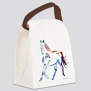Horse of Many Colors Canvas Lunch Bag