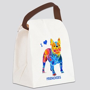 4-FrenchieLuv2 Canvas Lunch Bag