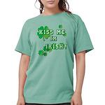 Kiss Me I'm Irish Womens Comfort Colors Shirt