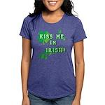 Kiss Me I'm Irish Womens Tri-blend T-Shirt