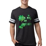 Kiss Me I'm Irish Mens Football Shirt