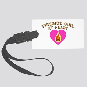Fireside Girl at Heart Large Luggage Tag
