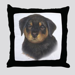 adorable Rottweiler puppy Throw Pillow