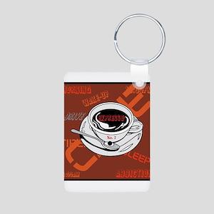 OYOOS Coffee Cup design Aluminum Photo Keychain