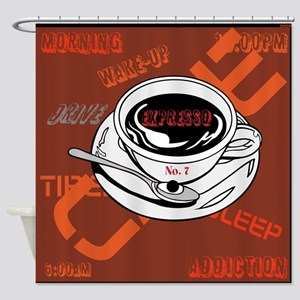 OYOOS Coffee Cup design Shower Curtain