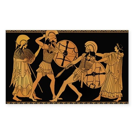 Achilles Slaying Hector Sticker (Rectangle)