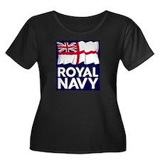 Royal Na Women's Plus Size Scoop Neck Dark T-Shirt