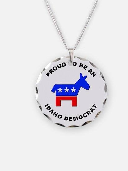 Idaho Democrat Pride Necklace