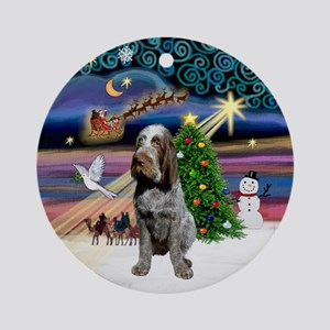 Xmas Magic & Roan Spinone Ornament (Round)