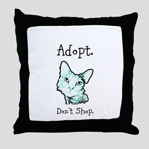 Adopt Don't Shop Cat Throw Pillow