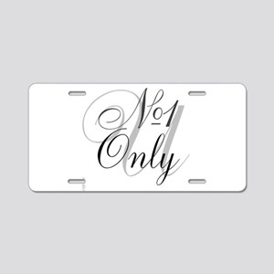 OYOOS No1 Only design Aluminum License Plate