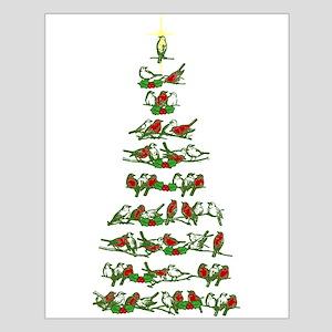 Christmas Bird tree Small Poster
