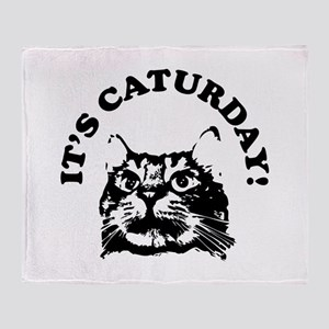 It's Caturday! Throw Blanket