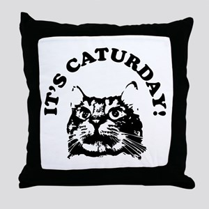 It's Caturday! Throw Pillow