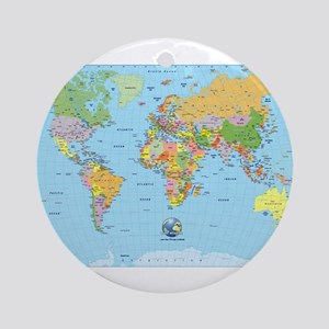 World map ornaments cafepress the small world ornament round gumiabroncs Images