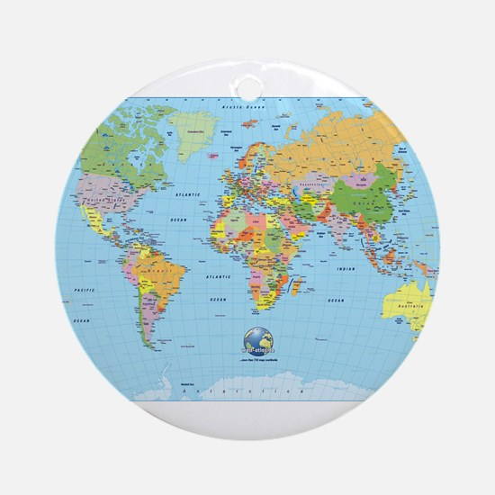 World map gifts merchandise world map gift ideas apparel the small world ornament round gumiabroncs Images