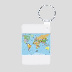 the small world Aluminum Photo Keychain