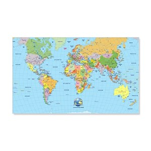 World map wall decals cafepress gumiabroncs Images