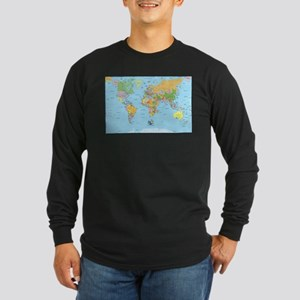 the small world Long Sleeve Dark T-Shirt