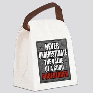 Poofreader Canvas Lunch Bag