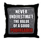 Poofreader Throw Pillow