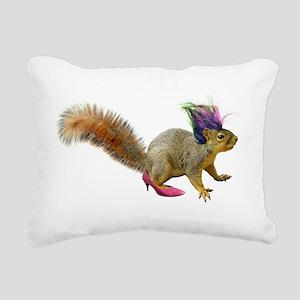 Dress Up Squirrel Rectangular Canvas Pillow
