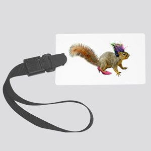Dress Up Squirrel Large Luggage Tag