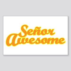 Señor Awesome Sticker (Rectangle)