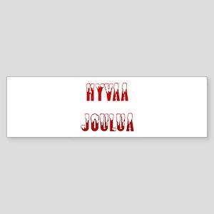 Hyvaa Joulua Bumper Sticker
