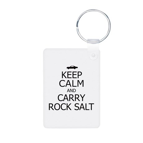 Keep Calm Rock Salt bk Aluminum Photo Keychain
