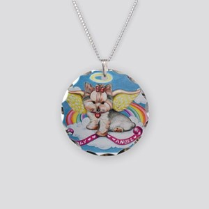Holy Angel Necklace Circle Charm