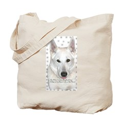 White German Shepherd Dog - A Tote Bag