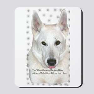 White German Shepherd Dog - A Mousepad