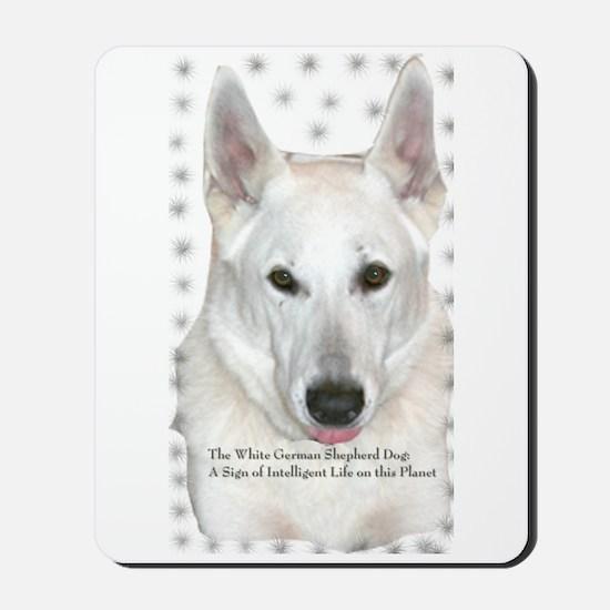 White German Shepherd Dog - A Mousepad