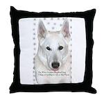 White German Shepherd Dog - A Throw Pillow