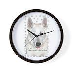 White German Shepherd Dog - A Wall Clock
