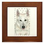 White German Shepherd Dog - A Framed Tile