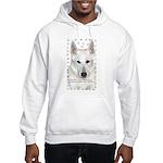 White German Shepherd Dog - A Hooded Sweatshirt